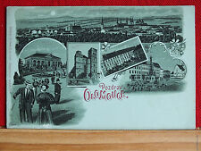 Mondscheinkarte - Pozdrav z Olomouce / Olmütz - ungel. Original - ca 1898   m1
