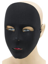 Plain Black  Full Face Mask Robot Fancy Dress Stage Mime Masquerade Ball
