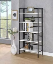5 Tiers Folding Bookshelf Rack Bookcase Home Office Shelf Storage Rack Holder