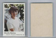 1970 Dutch Gum, Music Artists Mini Card, Series P, #66 Mireille Mathieu, ZQL