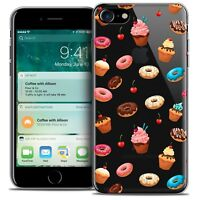 "Coque Crystal Gel Pour iPhone 7 (4.7"") Extra Fine Souple Foodie Donuts"