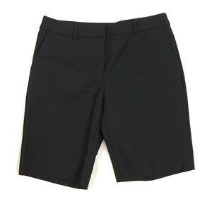 NWOT Ellen Tracey Black Golf Shorts Women Size 6, 10 inch inseam Mid Rise
