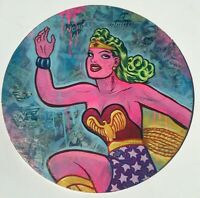 Frank Forte Lowbrow Pop Surrealism Original Art Wonder Woman In Pink #1