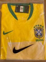 Nike Brazil Soccer Jersey World Cup 2018 Men's XL NEW Yellow