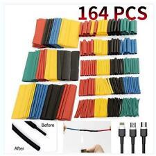 164pcsset Heat Shrink Tubing Kit Shrink Assorted Polyolefin Insulation G7g0