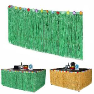 9ft Hawaii Luau Tischröcke mit Simulation Mehrfarbe Blumen DIY Sommer Party Deko