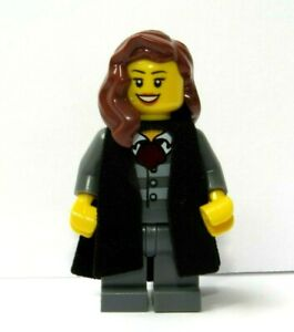 Genuine Lego Female Girl  Graduate Graduation Minifigure Student  Brown Hair
