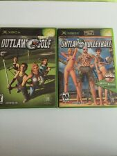 Outlaw Volleyball And Golf( Microsoft Xbox, 2003) Lot Of 2. Complete. No Scratch