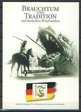 "BRD / Bund Sonderblatt "" Brauchtum u. Tradition "" m. Sonderstempel"