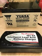 Yuasa REC14-12 Mobility / Golf Battery 12V 14Ah - With Charger YPC2A12