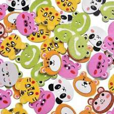 Personality Animal Wood Button 50Pcs Mixed Color 2 Holes Apparel Sewing Random