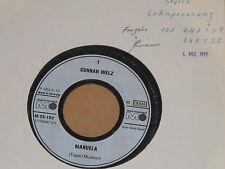 """GUNNAR WELZ -Manuela- 7"""" 45 Metronome Archiv mint"""