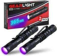 GearLight Black Light UV Flashlight S50 [2 Pack] - 365 nm Ultraviolet ID Check