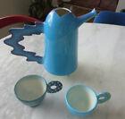 Vintage  1990s Memphis Style Ceramic Pitcher Tea Set