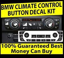 2006-2011 BMW E90 E91 E92 330I 335XI AC CLIMATE CONTROL BUTTON DECALS REPAIR SET