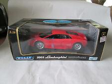 Welly KB Toy Red 2003 Lamborghini Murcielago Sports Car 1:18 #2517-W NIB