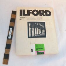New listing New Old Stock Ilford 100 sheets 8x10 B&W Photographic paper Mg.1K Sealed