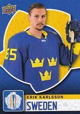 ERIK KARLSSON 2016 UPPER DECK WORLD CUP OF HOCKEY BASE #WCH-36 SWEDEN !