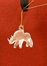 Blown Glass Rhino Hanging Figurine A Collectors Dream Display Decoration