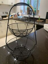 Fruit Rack DarkGrey Metal Basket