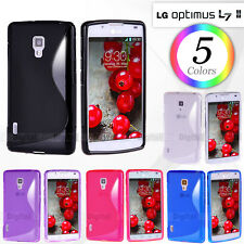 5 Colors New S CURVED GEL CASE FOR LG Optimus L7 II P710 P713