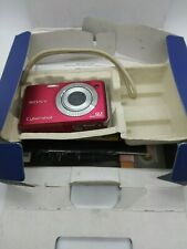 SONY CyberShot DSC-W230 12MP Digital Camera - Red , With Box , Untested,