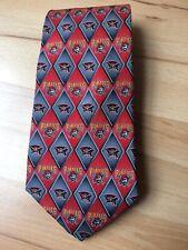 Pittsburg Pirates Baseball Red Black Gray Eagle Neckwear 100% Silk Tie Necktie