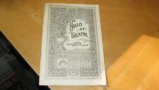 1903  HOLLIS ST THEATRE ( BOSTON )PROGRAM PLAYBILL 24 PG ADS ' MARLOWE ' REDUCED