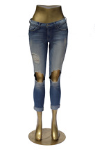 Flying Monkey Jeans A1011 DESTROYED BIG KNEE HOLES Cuffed NWT Size 25 in NEW