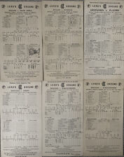 More details for 6 x cricket scorecards from lords 1951 onwards