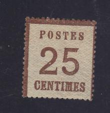 ALSACE n°7 neuf** 25 ct signé Calves Burelage renversé gomme origine 1870..900€