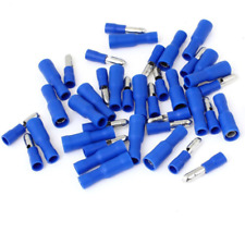 100PC Blue Assorted Bullet Butt Connector Insulated Crimp Wire Terminals 4MM