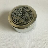 St Justin Pewter Trinket Box Celtic Pictish Inverurie Horses Gift Handcrafted
