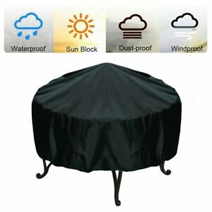 Large Waterproof Patio Round Fire Pit Grill BBQ Stove UV Dust Cover Protector