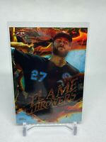 2020 Topps Fire Chicago White Sox Lucas Giolito Flame Throwers card