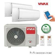VIVAX Multisplit Klimaanlage M-Design Klimagerät 2 x 2 KW Duo WIFI Inkl. R32 A++