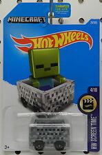 2016 MINECART MINECRAFT BOX SCREEN TIME 4 10 24 HW HOT WHEELS