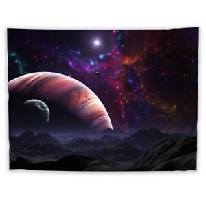 Universe Astronaut Planet Tapestry Art Wall Poster Hanging Sofa Table Cover