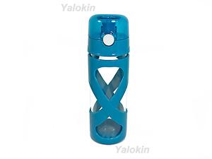 NEW Pastel Blue BPA Lead Free Flip Lid GLASS Beverage Bottle 16 oz (0.5 Liter)