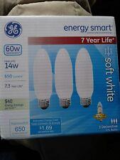 GE LED 7 year Life Energy Smart 14w decorative soft white Light Bulbs
