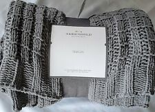 Threshold Knitted Grey Throw Blanket