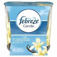 Febreze Vanilla Blossom Scented Candle Odour Eliminating Home Air Freshener 100g