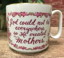 "Lefton Coffee Cup God could not be everywhere so He created ""Mothers"" 1613"