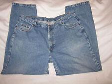 "Members Mark Denim Blue Jeans Men 42"" X 32"" 100% Cotton Medium Wash Straight Leg"