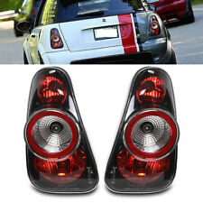 BLACK TINTED REAR TAIL LIGHTS LAMPS SET FOR MINI COOPER S R50 R53 01-06