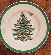 "Vtg SPODE Christmas Tree Bread Butter Plate 6-1/2"" Made in England"