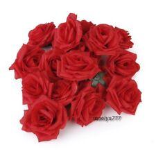Tête de rose rouge (5  pcs) fleur artificielle décoration mariage,wedding cake.