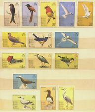 British Indian Ocean Territory 1975 QEII Birds set of 15 values to Rs10  VLMM