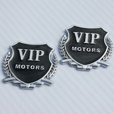 2x 3D Metal VIP Motors Badge Decals Car Truck Van Bumper Fender Stickers New