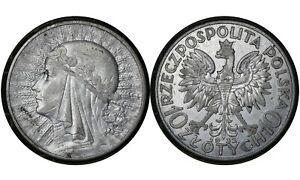10 Złotych 1932 Poland  🇵🇱 Silver Coin / Queen Jadwiga Y # 22